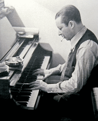 J.C. at the piano, 1940s